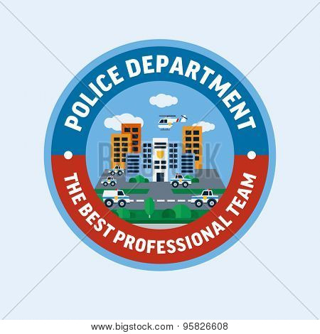 Police department. Flat design vector