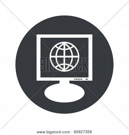 Round globe monitor icon