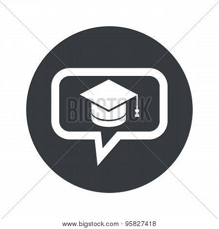 Round graduation dialog icon