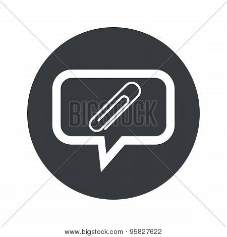 Round paperclip dialog icon