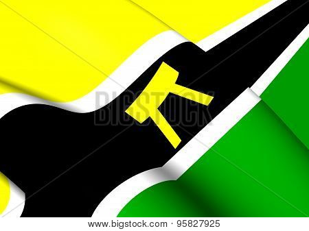 Flag of the Ashanti People and Country Ashanti Asanteman