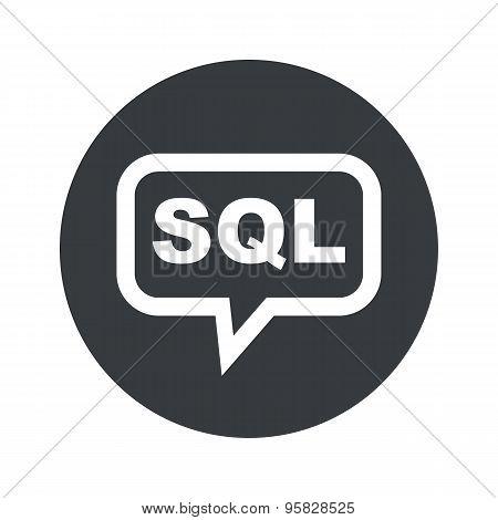 Round SQL dialog icon