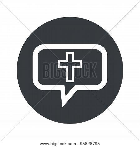 Round christian cross dialog icon