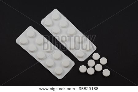 Tablet Blister Packs And Open Tablets