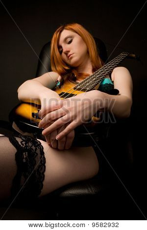 Beautiful Woman With Guitar