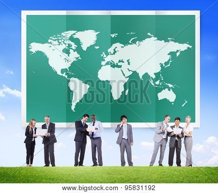World Global Business Cartography Globalization International Concept