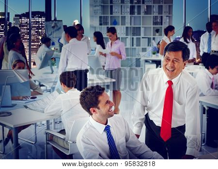 Business People Team Meeting Discussion Board Room Concept