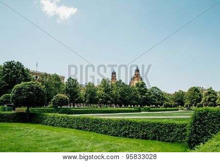 Hofgarten Park In Munich, Germany