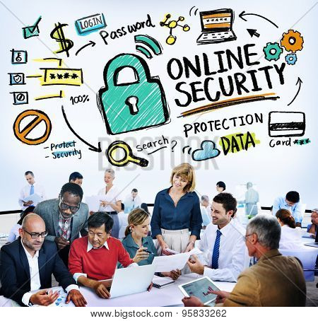 Online Security Password Information Protection Privacy Internet Concept