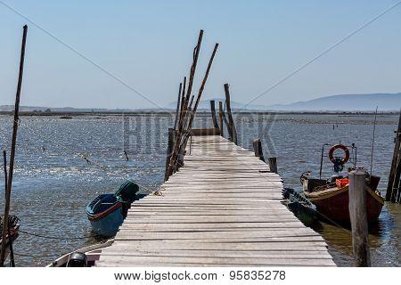 Very Old Dilapidated Pier In Fisherman Village