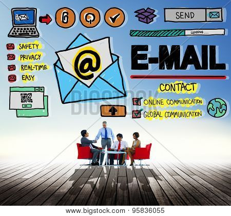 Email Correspondence Online Messaging Technology Concept