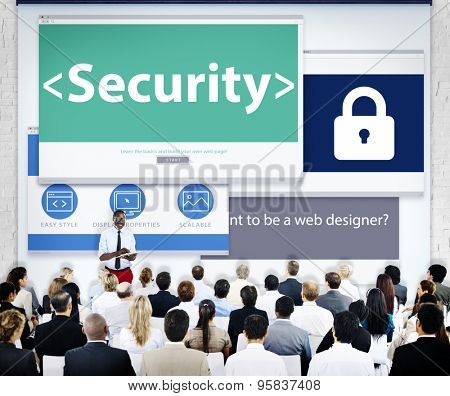 Group of Business People Seminar Security Concept