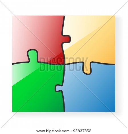 Paper Puzzle. Illustration Background for Design.