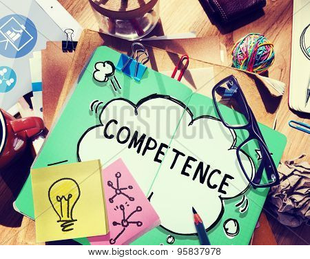 Competence Skill Ability Proficiency Accomplishment Concept
