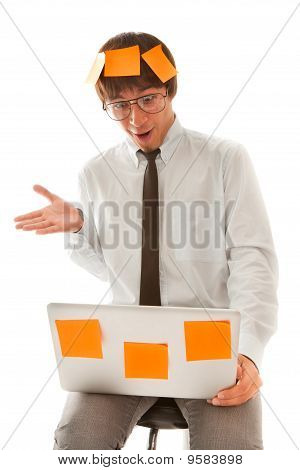 Surprised Young Businessman