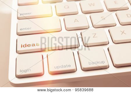 Lighting Spark Under Ideas Key Of Computer Keyboard