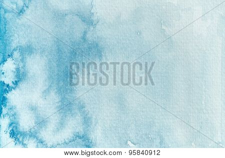 Blue watercolor background