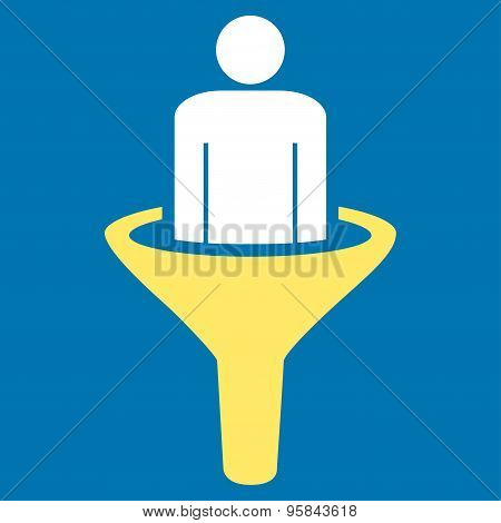 Sales funnel icon from Business Bicolor Set