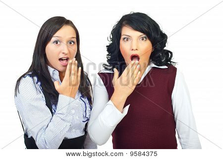 Shocked Two Women