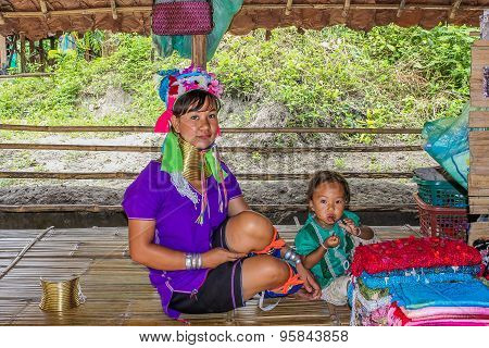 Padaung tribe long-necked