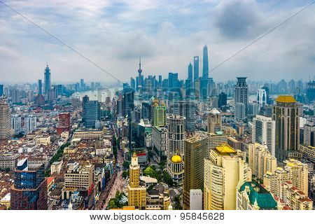 Shanghai, China Aerial View