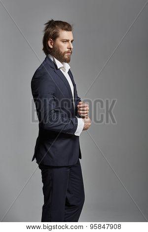 Portrait of a stylish businessman