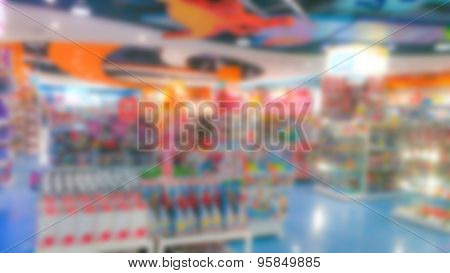 Abstract blur toy shop