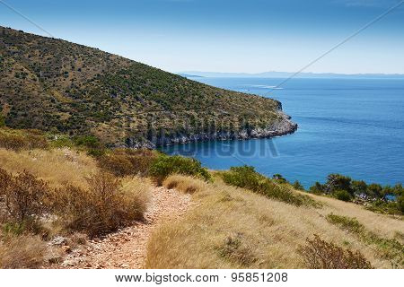 Coast In The Adriatic Sea On The Island Of Hvar, Croatia