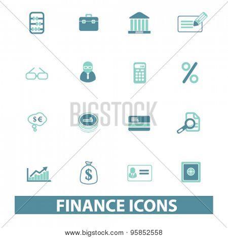 finance, bank icons