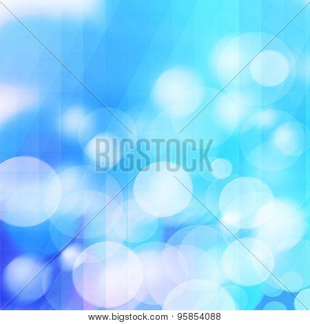Lights On Blue Background