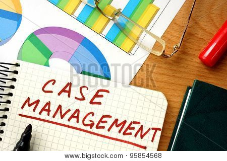 Note with words case management.