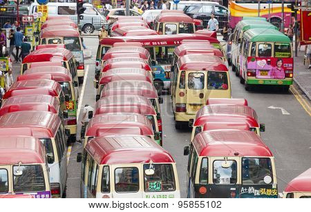 Minibuses in Hong Kong