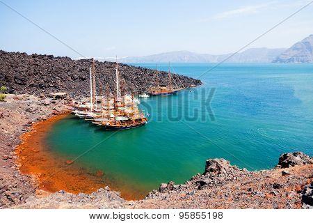 Nea Kameni Volcanic Island, Santorini