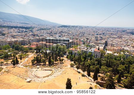 Athens, Viewed From Acropolis