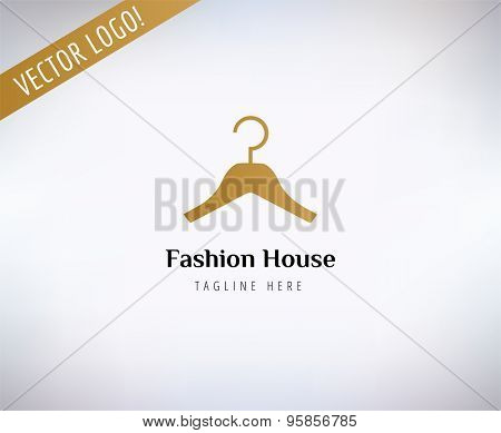 Hanger vector logo template. Fashion, clothes and shop symbols. Stocks design elements