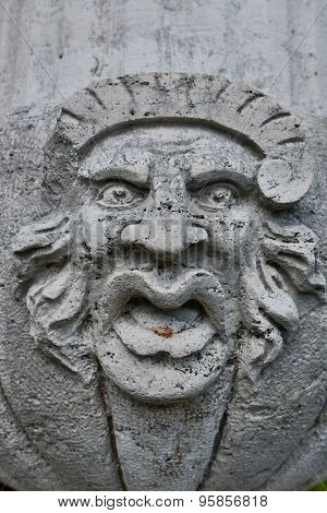 Ugly Stone Face Sculpture