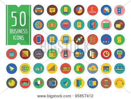 Business vector logo icons set. Business, bank and finance symbols. Stock design elements