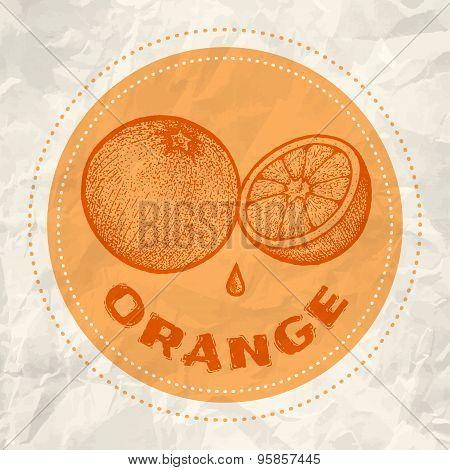 Vintage logo of orange