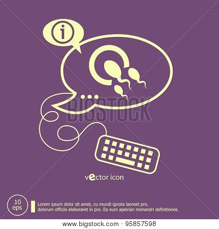 Sperms And Egg Icon And Keyboard Design Elements