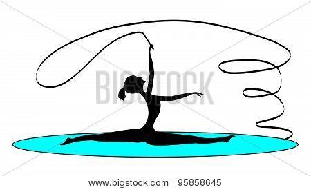 Rhythmic Gymnastics With A Tape