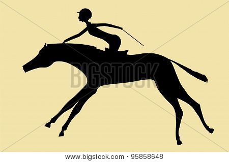 The Horsewoman Skips On A Horse