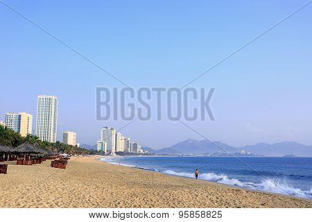 Nha Trang City Beach At Morning, Vietnam