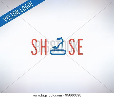 Shoes vector logo. Fashion, clothes and shop symbol. Stocks design element