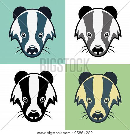 Badger Mascot Head Illustration Emblem