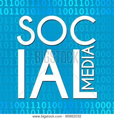 Social Media Binary Background