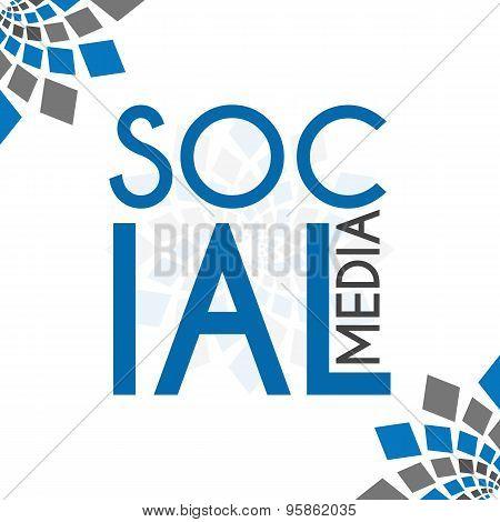 Social Media Blue Grey Elements