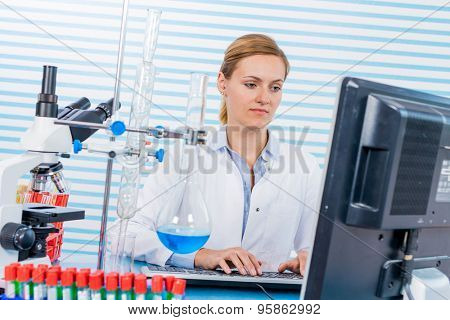Technician in chemical laboratory