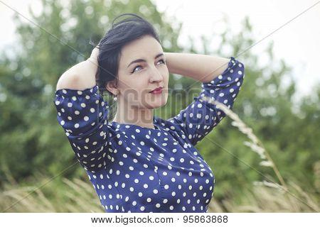 Art Portrait Of A Beautiful Brunette