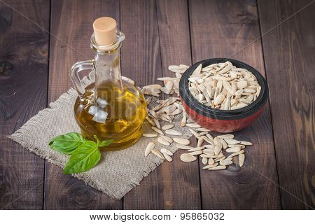 Sunflower Oil And White Sunflower Seeds
