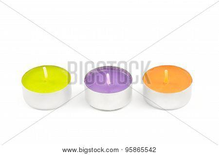 Three tea lights.